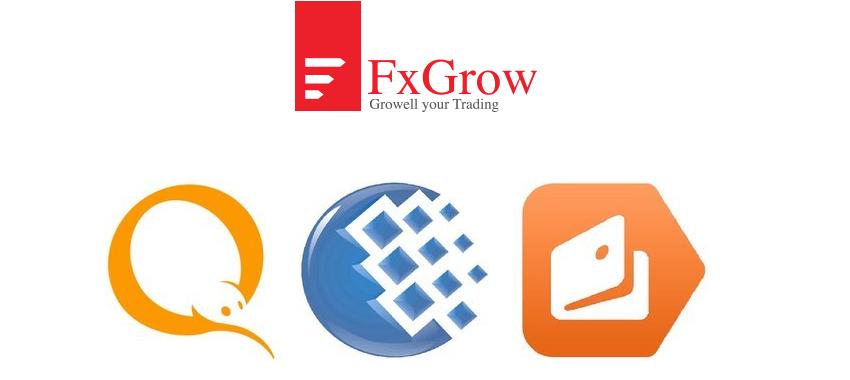 FxGrow new payment methods