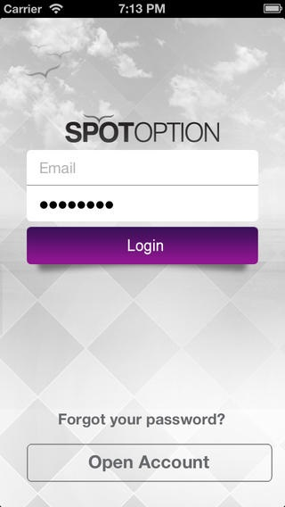 SpotOption mobile screenshot