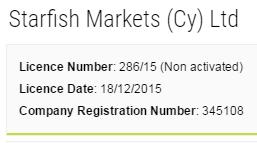 Starfish Markets CySEC