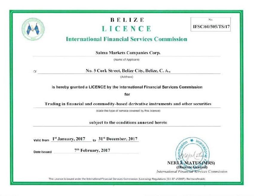 Belize forex license
